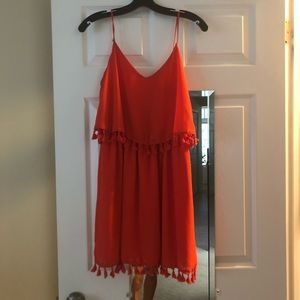 Red frill Dress size small